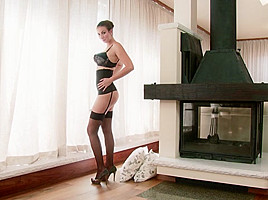 Connie Carter in A Black Stocking Stretch - TwistysNetwork