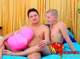 Latino gay jock hard dick straight up in twinks ass