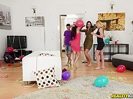 Gina Gerson  Kayla Green  Jordi in Partys Over - MomsBangTeens