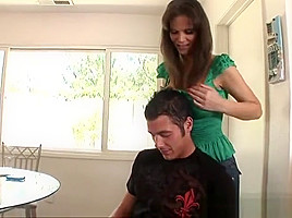 Godlike redhead mom Syren DeMer gets a cock in the ass