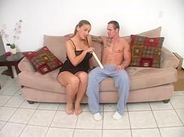 Curvy hot Latina measures a dick